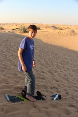 Sand surfing....