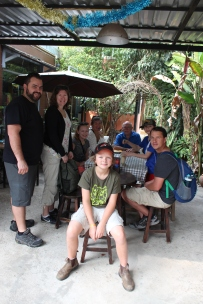 The whole gang eating some breaky by our place in Chiang Mai.