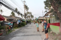 Going for an evening stroll in Koh Samui.