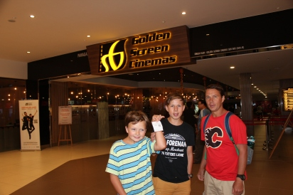 We went to see Jumangi while we were in Malaysia. Big hit with all of us!!
