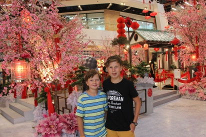 Lots of decorations for Chinese New Year.