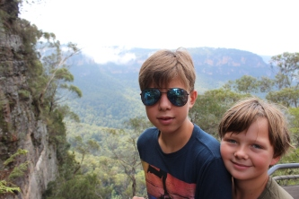 """Gorgeous views as we did some """"bushwalking"""" north of Sydney."""