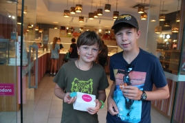Zumbo's desserts....the boys had watched Zumbo's Just Desserts, and were excited to find one of his shops in downtown Sydney.