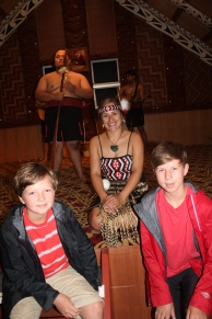 At the Maori cultural show.