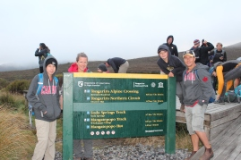 At the start of the Tongariro Alpine Crossing.
