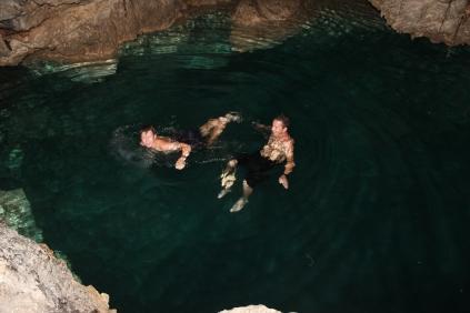 Freshwater cave lake