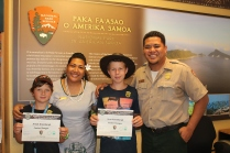 Becoming Jr. Rangers at America Samoas