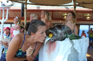 Tradition for first timers sailing across the equator