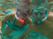 LOTS of snorkelling in the Hawaiian islands.