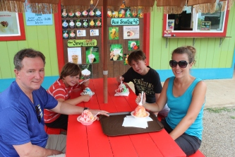 Shave Ice almost every day. YUM!!!
