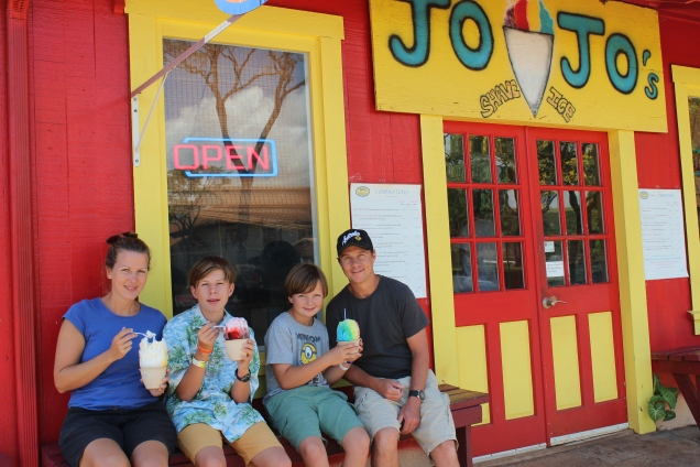 Jo Jo's shave ice.